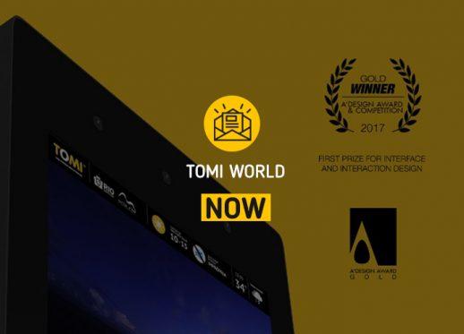 TOMI WORLD NOW: TOMI WORLD wins worldwide Golden A' Design Award